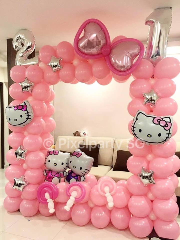 In Singapore Balloon Decoration Service Is One Of The BEST Selling Services For 21st Birthday Party They Can Customise Their Design According To