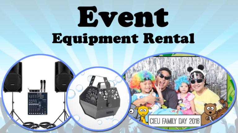 event equipment rental