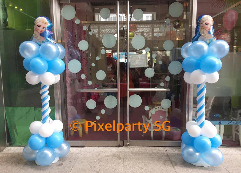 Balloon decoration service pixel party sg for Balloon decoration for kids