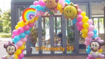 minnie-theme-balloon-arch-singapore