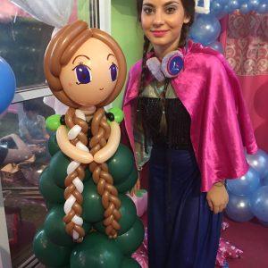 Frozen princess appearance